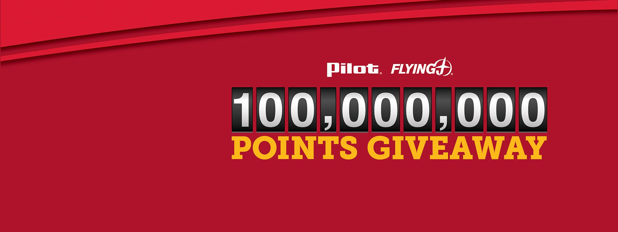 Pilot Flying J 100 Million Points Giveaway